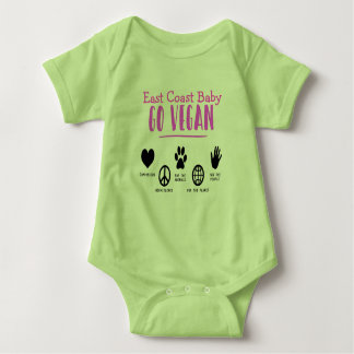East Coast Baby Go vegan for the planet Baby Bodysuit