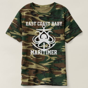 Beach Themed East Coast Baby Maritimer anchor camouflage T-shirt