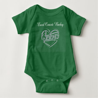 "East Coast Baby Music Baby Shirt""Lighthouse Route"" Baby Bodysuit"