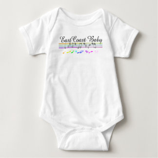 East Coast Baby music notes staff Infant Creeper