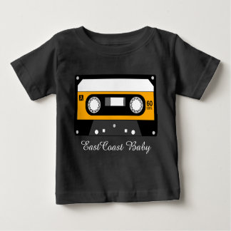 East Coast Baby music retro hip cassette tape Baby T-Shirt
