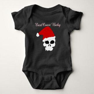 East Coast Baby rockabilly Santa skull Christmas Baby Bodysuit