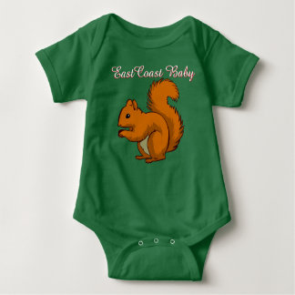 East Coast Baby squirrel one piece Baby Bodysuit