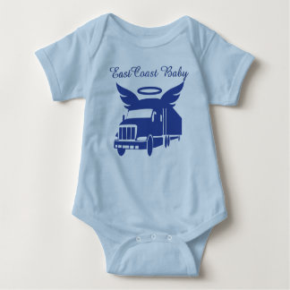 East Coast Baby tractor tailor eighteen wheeler Baby Bodysuit