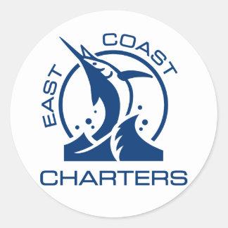 East Coast Charters Classic Round Sticker