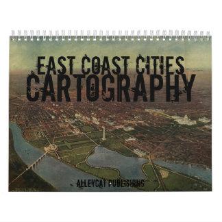 East Coast Cities Cartography Calendar