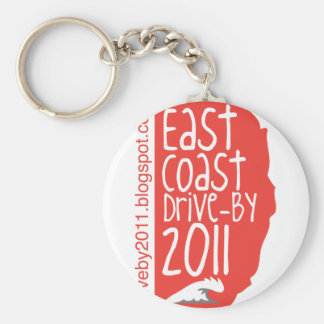 East Coast Drive By 2011 Basic Round Button Keychain