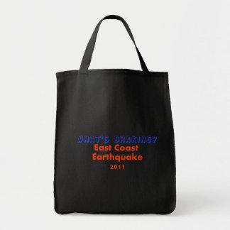 East Coast Earthquake  2011 - What's Shaking? Tote Bag