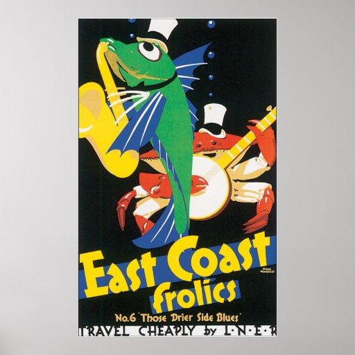East Coast Frolics Poster