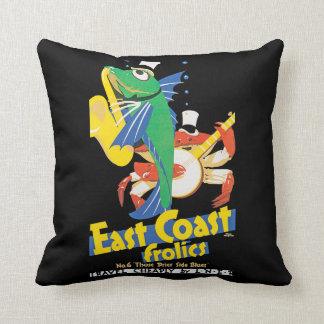 East Coast Frolics Throw Pillow