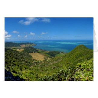 East Coast Island of Mauritius Africa Card