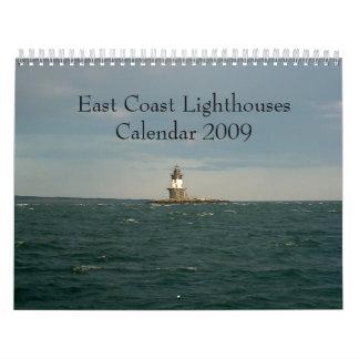 East Coast Lighthouses Calendar 2009