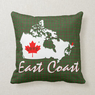 East Coast Newfoundland Customize Canada  Pin town Throw Pillow