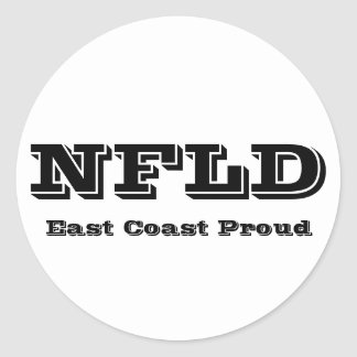 East Coast Proud Newfoundland Sticker