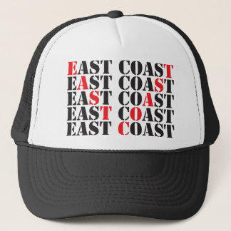 east coast red black.png trucker hat