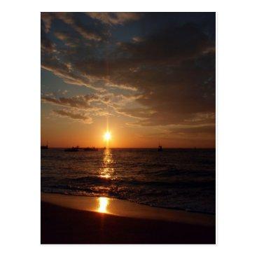 Beach Themed East Coast Sunrise Postcard