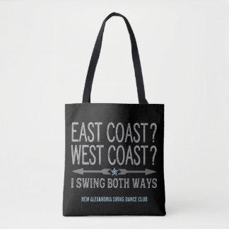 East Coast West Coast | Swing Both Ways Tote Bag
