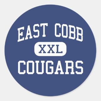 East Cobb Cougars Middle Marietta Georgia Classic Round Sticker
