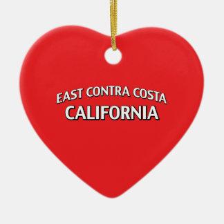 East Contra Costa California Ceramic Ornament