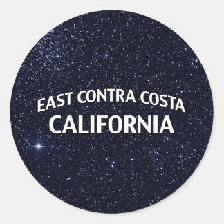 East Contra Costa California Classic Round Sticker
