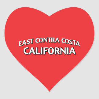 East Contra Costa California Heart Sticker