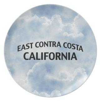 East Contra Costa California Melamine Plate