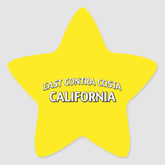 East Contra Costa California Star Sticker