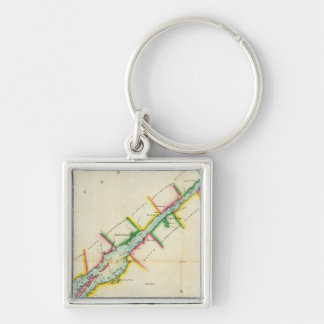 EaSt. End of Lake Ontario and River St. Lawrence Key Chain