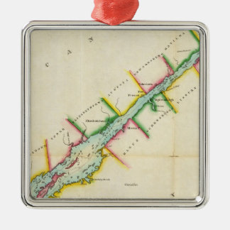 EaSt. End of Lake Ontario and River St. Lawrence Metal Ornament