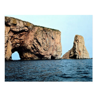 East end of Perce Rock from sea, late afternoon, Q Postcard