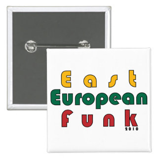 East European Funk 2 Inch Square Button