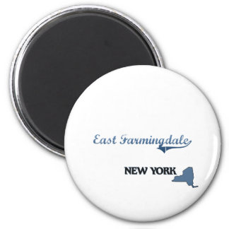 East Farmingdale New York City Classic 2 Inch Round Magnet