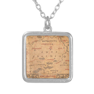 East Farthing Square Pendant Necklace