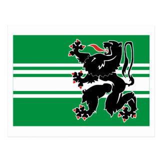 East Flanders Flag Postcard