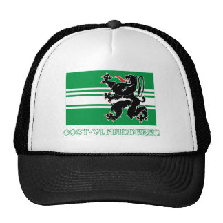 East Flanders Flag with Name Trucker Hat