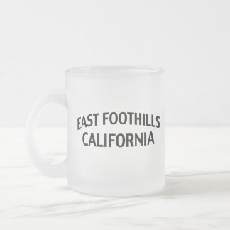 East Foothills California Frosted Glass Coffee Mug