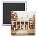 East Front of Monticello 2 Inch Square Magnet