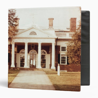 East Front of Monticello 3 Ring Binder