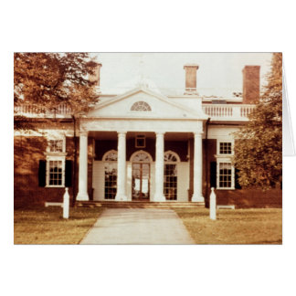 East Front of Monticello Card