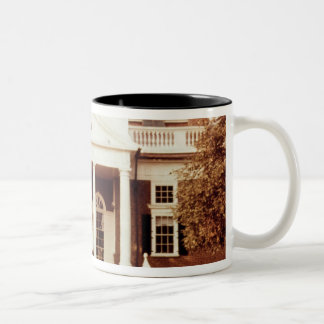 East Front of Monticello Two-Tone Coffee Mug