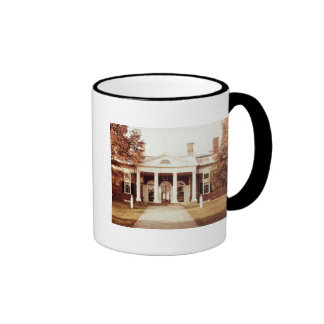 East Front of Monticello Ringer Coffee Mug