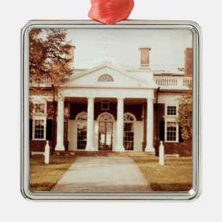 East Front of Monticello Christmas Ornament