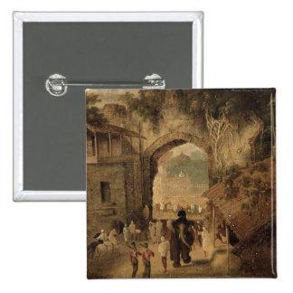 East Gateway, Patna, 1825 (oil on canvas) Pinback Button