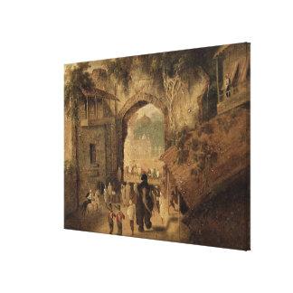 East Gateway, Patna, 1825 (oil on canvas) Canvas Print