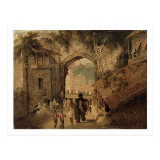 East Gateway, Patna, 1825 (oil on canvas) Postcard