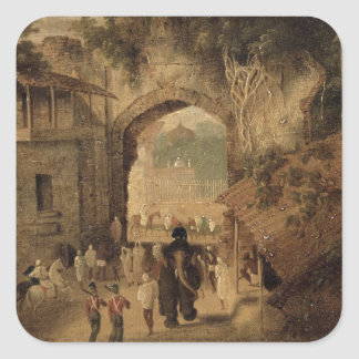 East Gateway, Patna, 1825 (oil on canvas) Square Sticker