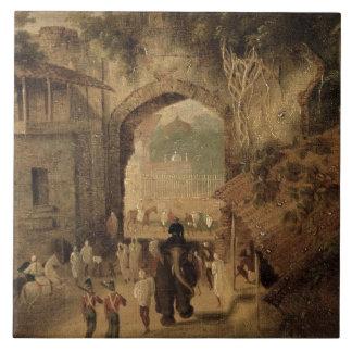 East Gateway, Patna, 1825 (oil on canvas) Tile