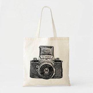 East German Camera - Black Tote Bag