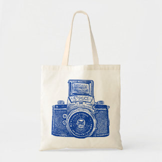 East German Camera - Dark Blue Bag