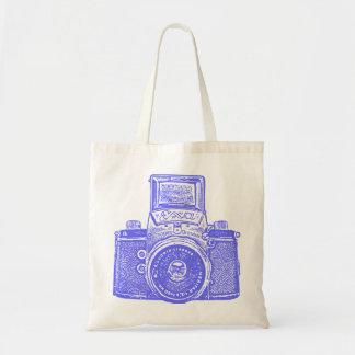 East German Camera - Electric Blue Bag